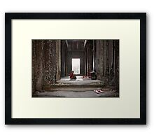 Buddhist in Cambodia Framed Print