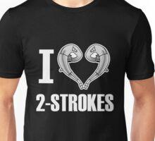 i love 2 stroke white Unisex T-Shirt