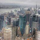 Manhattan New York City cityscape by WAMTEES