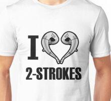 i love 2 stroke black Unisex T-Shirt