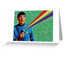 Star Trek Spock Collage Greeting Card
