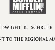 Dwight K. Schrute Sticker