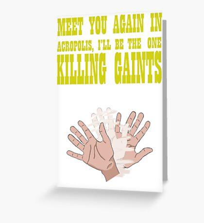 Kill Giants Greeting Card