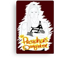 """HOLLY """"The Preacher's Daughter"""" HOLM (maroon) Canvas Print"""