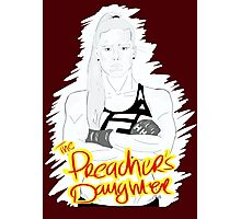 """HOLLY """"The Preacher's Daughter"""" HOLM (maroon) Photographic Print"""