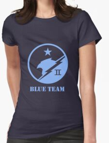 Blue Team Spartans Womens Fitted T-Shirt