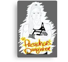 "HOLLY ""The Preacher's Daughter"" HOLM (dark grey) Canvas Print"