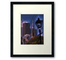 Gaslight Avenue  Framed Print
