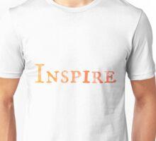 Inspire (Orange Watercolor) Unisex T-Shirt