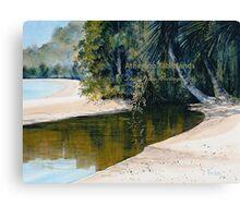 Tidal Creek, Dunk Island Canvas Print