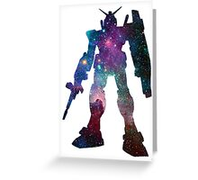 Galaxy Gundam Silhouette Greeting Card