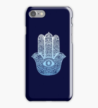 Hamsa Blue iPhone Case/Skin