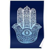 Hamsa Blue Poster