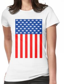 USA : UNITED STATE OF ARCADE Womens Fitted T-Shirt