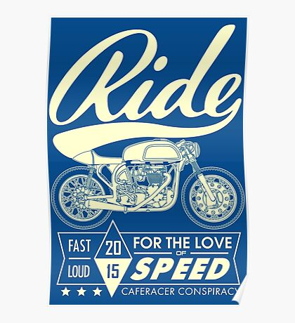 RIDE CAFE RACER Poster