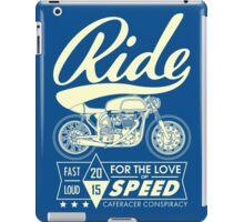 RIDE CAFE RACER iPad Case/Skin