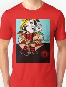 PICASSO PAINTING BY NORA  DAUGHTER AND DOLL Unisex T-Shirt