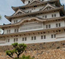 Himeji Castle With Tree, Japan Sticker