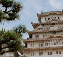 Himeji Castle With Tree, Kansai Sticker