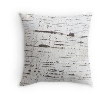 Birch bark pattern Throw Pillow