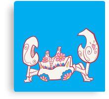 Krabby Pokemuerto | Pokemon & Day of The Dead Mashup Canvas Print