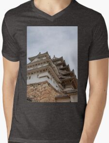 Castle at Himeji, Japan Mens V-Neck T-Shirt