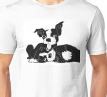 Boston terrier puppies Unisex T-Shirt