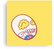 Electrode Pokemuerto | Pokemon & Day of The Dead Mashup Canvas Print