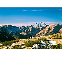 winter day in the italian alps Photographic Print