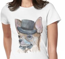 Chihuahua Watercolor  Womens Fitted T-Shirt