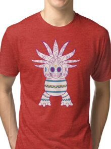 Exeggutor Pokemuerto | Pokemon & Day of The Dead Mashup Tri-blend T-Shirt