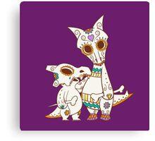 Cubone and Mama Pokemuerto | Pokemon & Day of The Dead Mashup Canvas Print