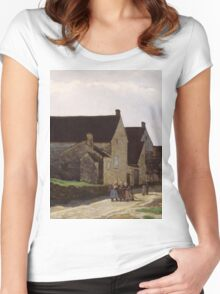 Alfred Sisley - Women Going to the Woods 1866 Landscape Women's Fitted Scoop T-Shirt