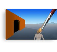 SURREALISM - Exiting The Four Walls Canvas Print