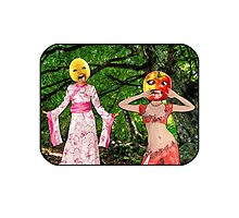 Forest Fruit Head Girls Photographic Print