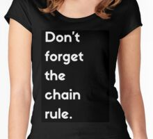 Don't Forget The Chain Rule Women's Fitted Scoop T-Shirt