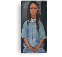 Amedeo Modigliani - Alice . Girl Portrait . Fashion . Modigliani , Alice  Canvas Print