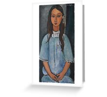 Amedeo Modigliani - Alice . Girl Portrait . Fashion . Modigliani , Alice  Greeting Card