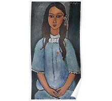 Amedeo Modigliani - Alice . Girl Portrait . Fashion . Modigliani , Alice  Poster