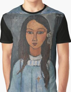 Amedeo Modigliani - Alice . Girl Portrait . Fashion . Modigliani , Alice  Graphic T-Shirt