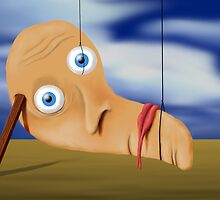 SURREALISM - The Melting Face by surreal77