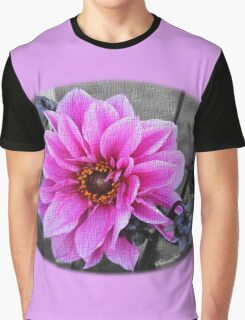 Twilight Dahlia with Texture Graphic T-Shirt