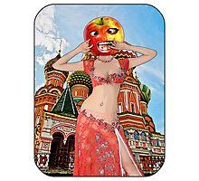 Russian Apple Head Girl Photographic Print