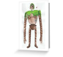 Castle in the Sky Robot Greeting Card