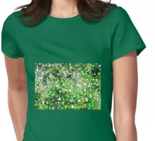 Small Green Pollen Womens Fitted T-Shirt