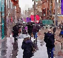 Rainy Day in Glasgow by David Alexander Elder