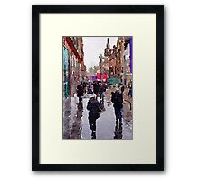 Rainy Day in Glasgow Framed Print