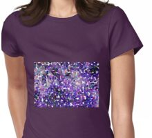 Small Purple Pollen Womens Fitted T-Shirt