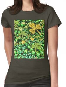 St. Patrick's Day Beads Womens Fitted T-Shirt