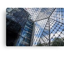 Indoors Outdoors Sky Geometry - Fabulous Modern Architecture in London, UK Canvas Print